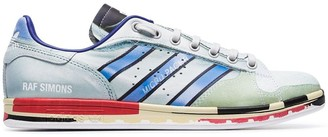 Adidas By Raf Simons Metallic Silver X Raf Stan Smith printed leather sneakers