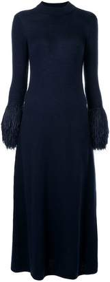 Rosie Assoulin fringed cuff knitted dress