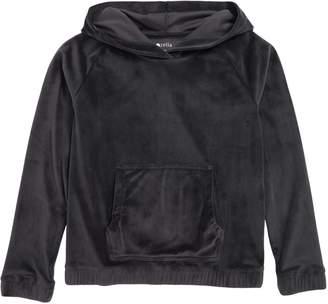 Zella Plush Velour Hooded Pullover
