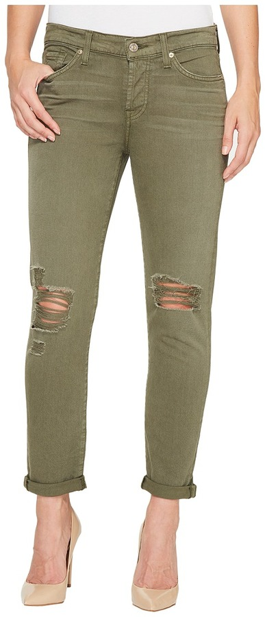 7 For All Mankind 7 For All Mankind - Josefina Jeans w/ Destroy in Olive Women's Jeans