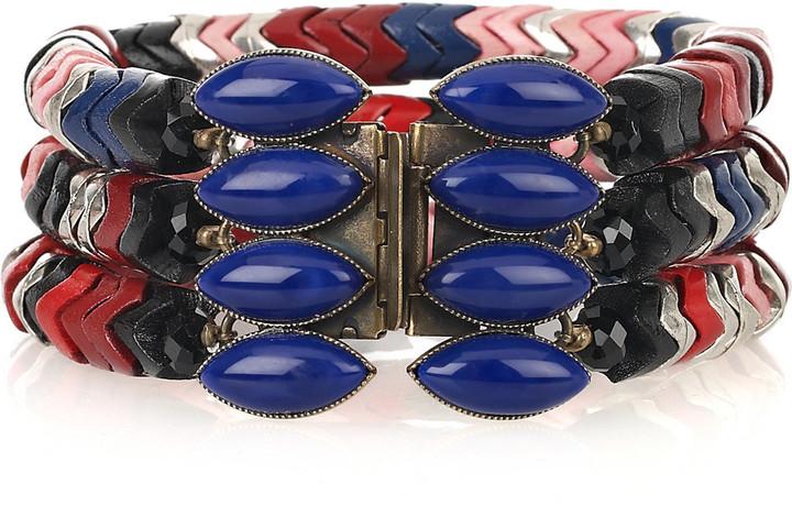 Isabel Marant Herringbone bead and glass bracelet