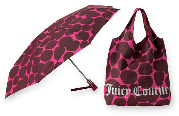 Juicy Couture 'Pear & Apple' Compact Umbrella & Bag