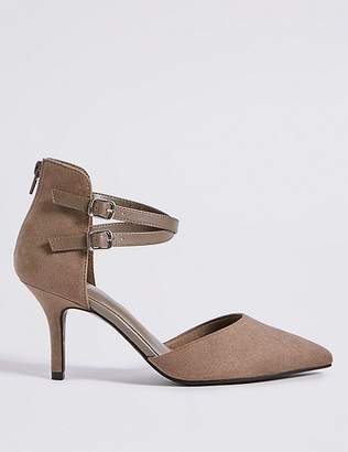 Marks and Spencer Extra Wide Fit High Heel Strap Court Shoes