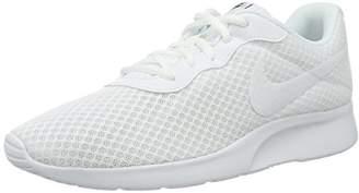 Nike Women's Tanjun Trainers, Off White (White/White/Black 110), 2.5 UK (35.5 EU)