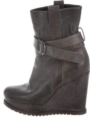 Brunello Cucinelli Platform Wedge Ankle Boots