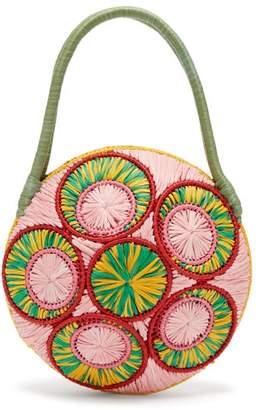 Sophie Anderson Saba Woven Raffia Bag - Womens - Green Multi