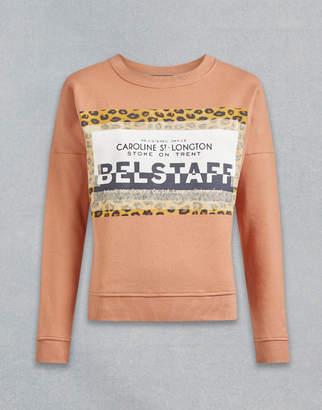 Belstaff Alness Leopard Graphic Sweatshirt