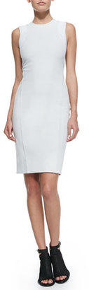Helmut Lang Compressed Twill Fitted Dress $425 thestylecure.com