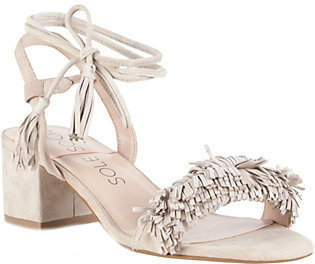 Sole Society Fringe Strap Heeled Sandals - Sera $90 thestylecure.com
