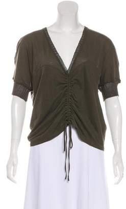 Stella McCartney Short Sleeve V-Neck Top