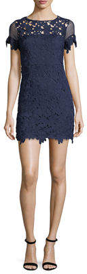 Romeo & Juliet Couture Floral-Lace Short-Sleeve Dress