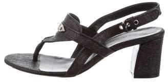 Balenciaga Raffia Thong Sandals