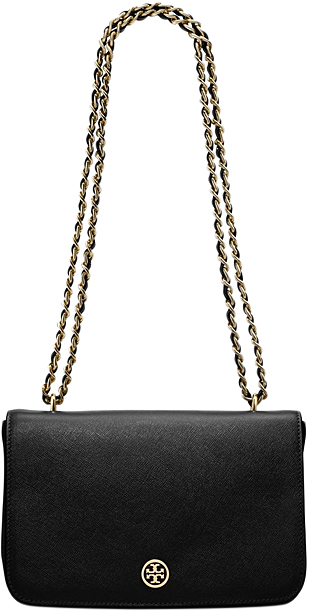 Black Robinson Adjustable Leather Shoulder Bag