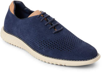 Steve Madden Blue Vaelen Perforated Casual Oxford Sneakers