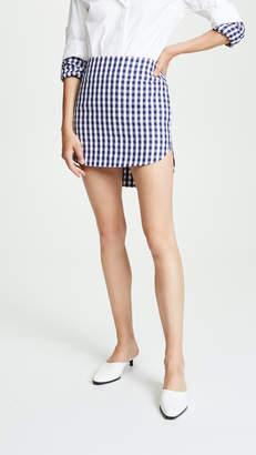 Monse Gingham Shirttail Skirt