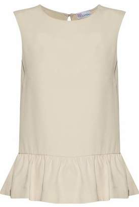 RED Valentino Tie-Back Gathered Crepe Blouse