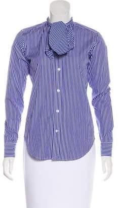 Ralph Lauren Sport Sash-Tie Striped Top w/ Tags