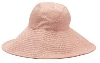 Federica Moretti Silk Jacquard Bucket Hat - Womens - Pink