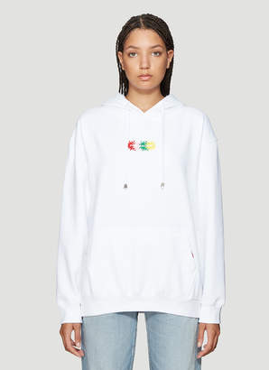 Pressure Four Sun Hooded Sweatshirt in White