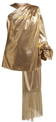 Hillier Bartley - One Shoulder Fringed Scarf Top - Womens - Gold