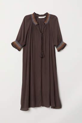 H&M V-neck Dress - Brown