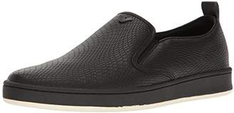 Armani Jeans Men's Basket Weave Slip On Sneaker Fashion