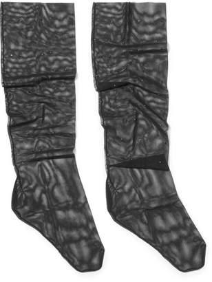 Wolford Adeline Studded Mesh Socks - Black