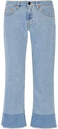 Victoria Beckham Victoria Cropped Mid-Rise Flared Jeans