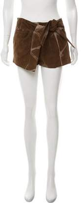Gucci Leather Wrap Shorts
