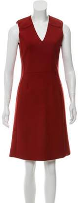 Reed Krakoff V-Neck Knee-Length Dress orange V-Neck Knee-Length Dress