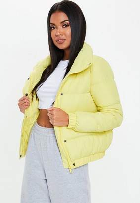 Missguided Yellow Puffer Jacket