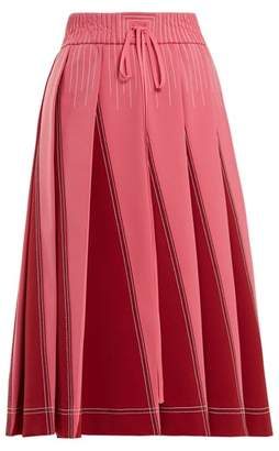 Valentino A Line Pleated Jersey Skirt - Womens - Pink