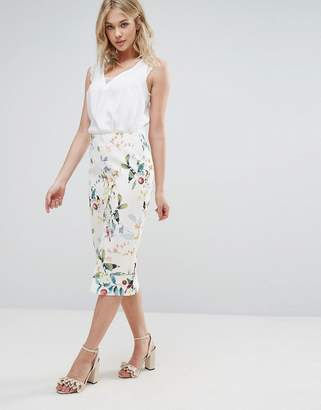 Oasis Bird Print Midi Pencil Skirt $73 thestylecure.com