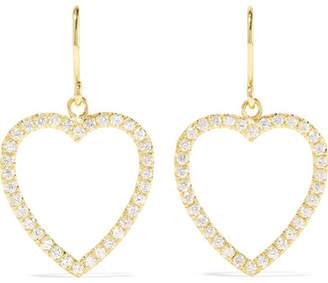 Jennifer Meyer Open Heart 18-karat Gold Diamond Earrings