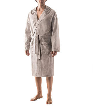 RESIDENCE Residence Microstripe Hooded Robe - Big
