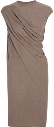 Rick Owens - Draped Jersey Dress - Taupe $495 thestylecure.com