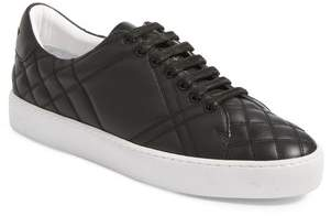 Women's Burberry Check Quilted Leather Sneaker