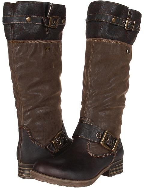 Rieker R6272 Waynette 72 (Kastanie/Dark Brown Leather) - Footwear