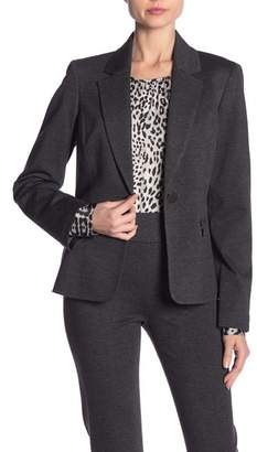 Kasper Zip Pocket Notch Collar Blazer
