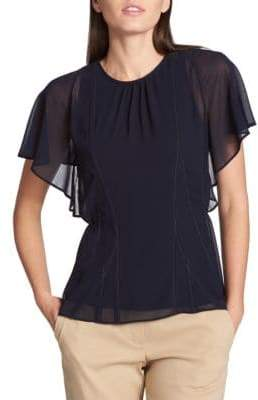 Donna Karan Short-Sleeve Top