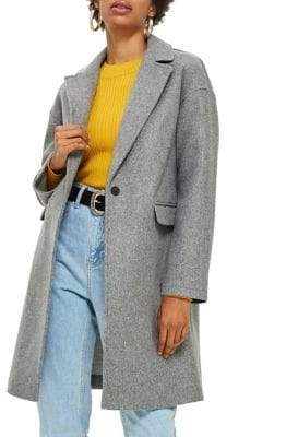 Topshop Lily Relaxed Crombie Jacket