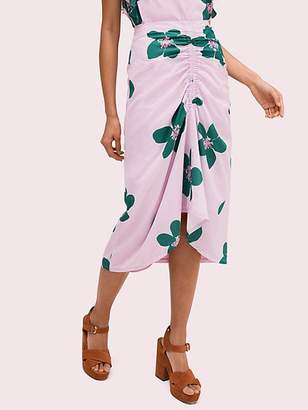 Kate Spade Grand Flora Ruched Skirt, Mirage Pink - Size 0