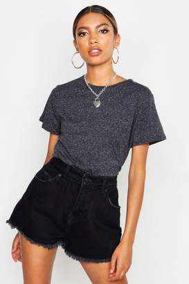 boohoo Cotton Elastane Cap Sleeve T- Shirt