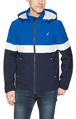 Nautica Men's Hooded Colorblock Jacket
