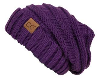 f067e4da68f Funky Junque Trendy Warm Oversized Chunky Soft Oversized Cable Knit Slouchy  Beanie