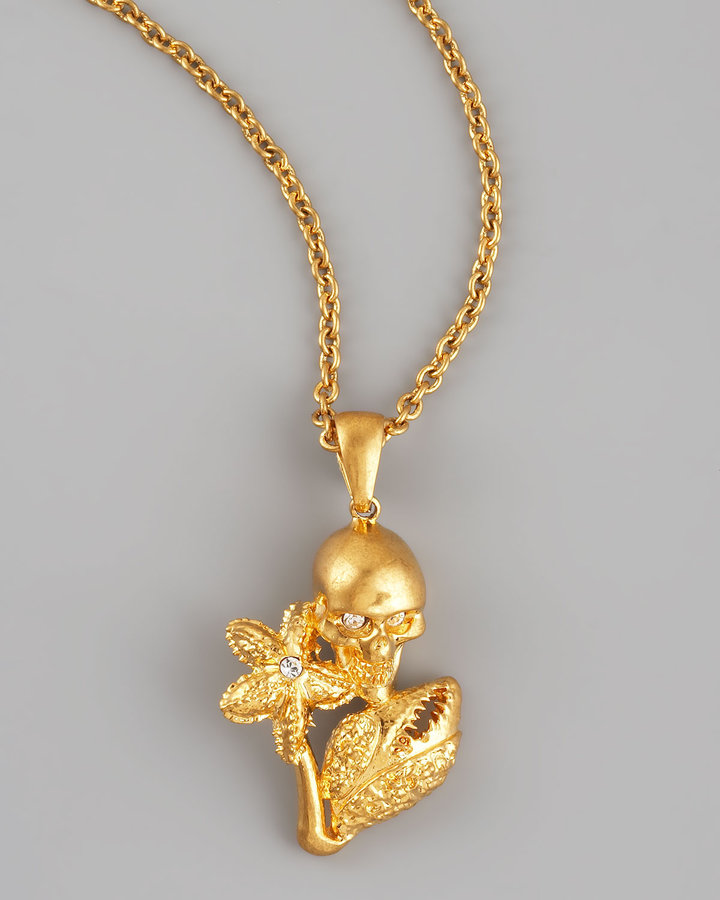 Alexander McQueen Skull, Starfish, & Claw Pendant Necklace