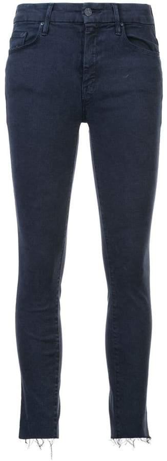 distressed detail skinny jeans