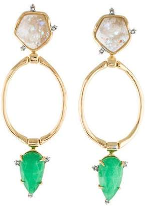 Alexis Bittar Druzy Stone Post Link Earrings