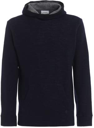 Dondup Hoodie-inspired Wool And Cotton Pullover