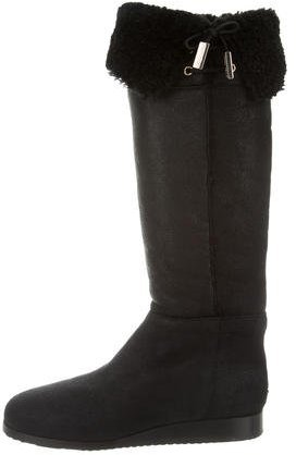 Jimmy Choo Jimmy Choo Shearling Knee-High Boots